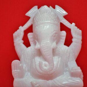 Marble Ganesh Ji – White