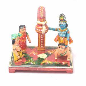 Makhan chor Leela Wooden Showpiece