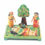 Putna Vadh Krishna Leela Wooden Showpiece